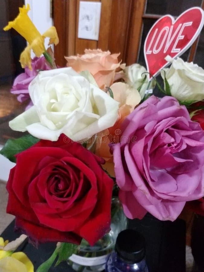 Happy Valentines Day. World stock image