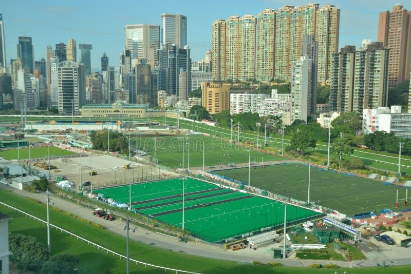 Happy Valley Racecourse. Hong Kong Happy Valley horse Racecourse royalty free stock image