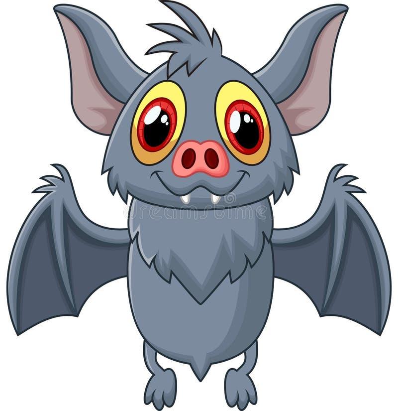 Happy Vampire Bat Cartoon Character Flying vector illustration