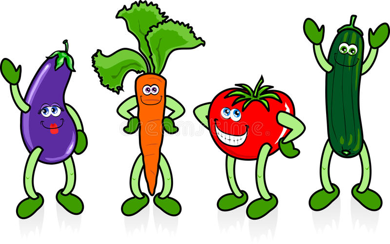 Happy vegetables royalty free stock images