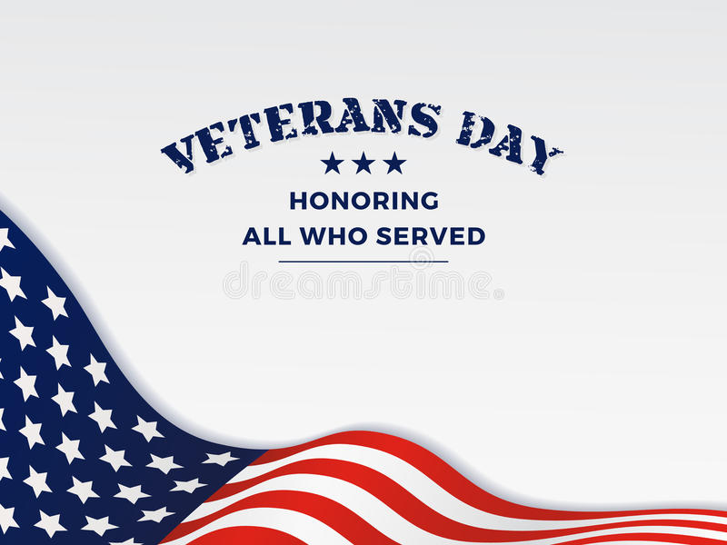 Happy Veterans Day royalty free illustration