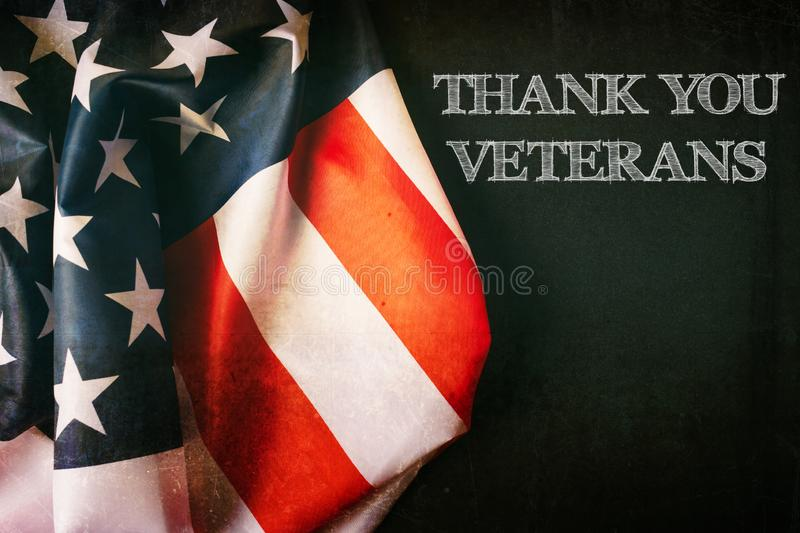 United States Flag Veterans Day Concept stock photo