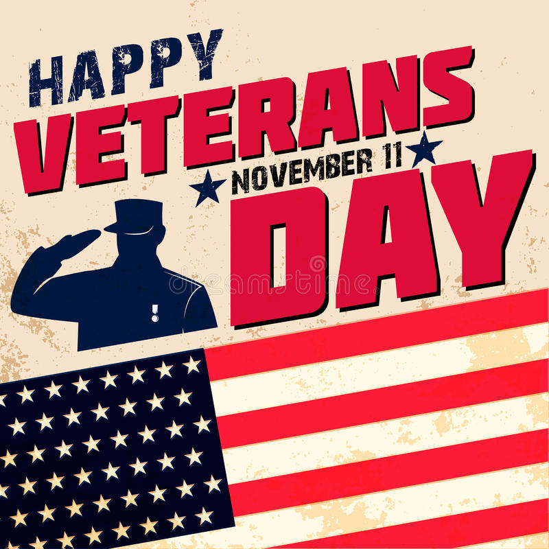 Happy veterans day royalty free illustration