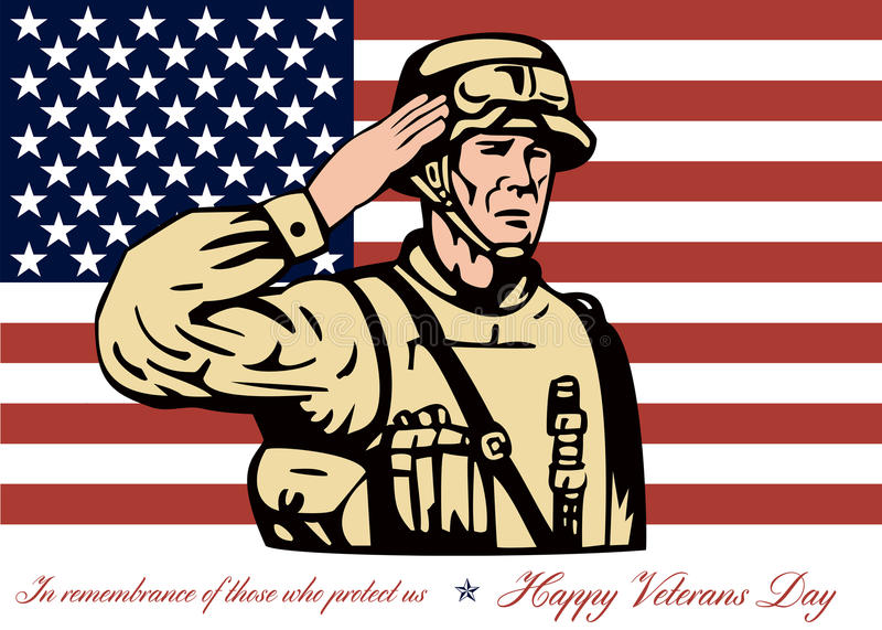 Happy veterans day greeting card soldier salute stock illustration download happy veterans day greeting card soldier salute stock illustration illustration of soldier front m4hsunfo Image collections