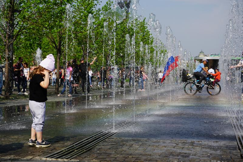Happy Victory Day in Moscow royalty free stock image