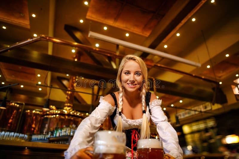 Happy waiter royalty free stock image