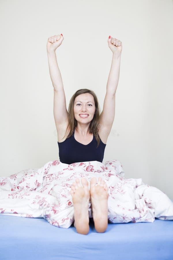 Happy Waking Up Royalty Free Stock Photography