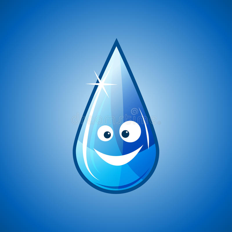 Happy water drop royalty free illustration