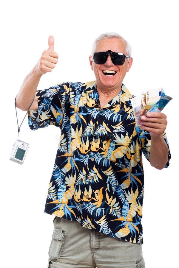 Happy wealthy senior stock photos
