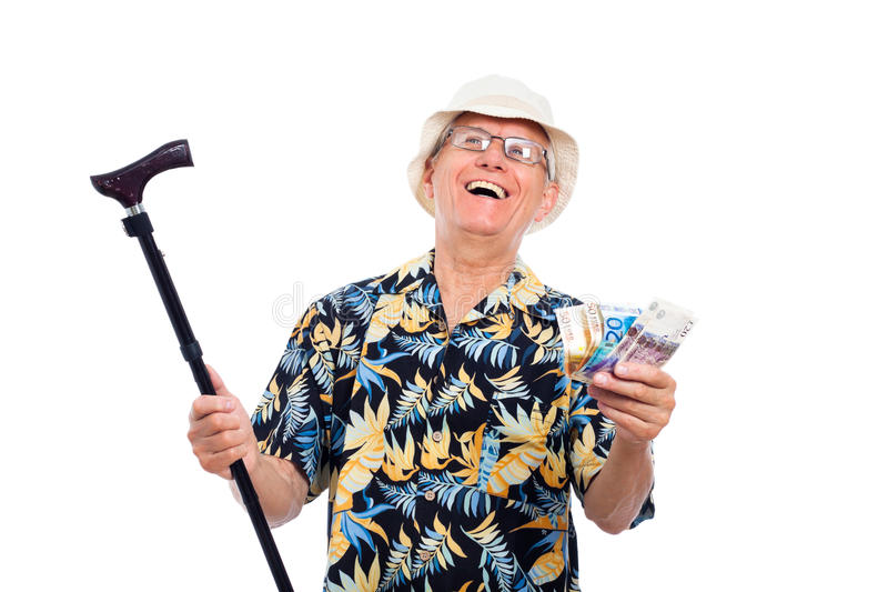 Happy wealthy senior man royalty free stock photography
