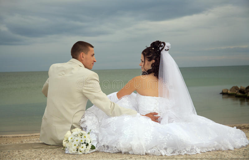 Download Happy wedding stock image. Image of beach, couple, honeymoon - 11182673