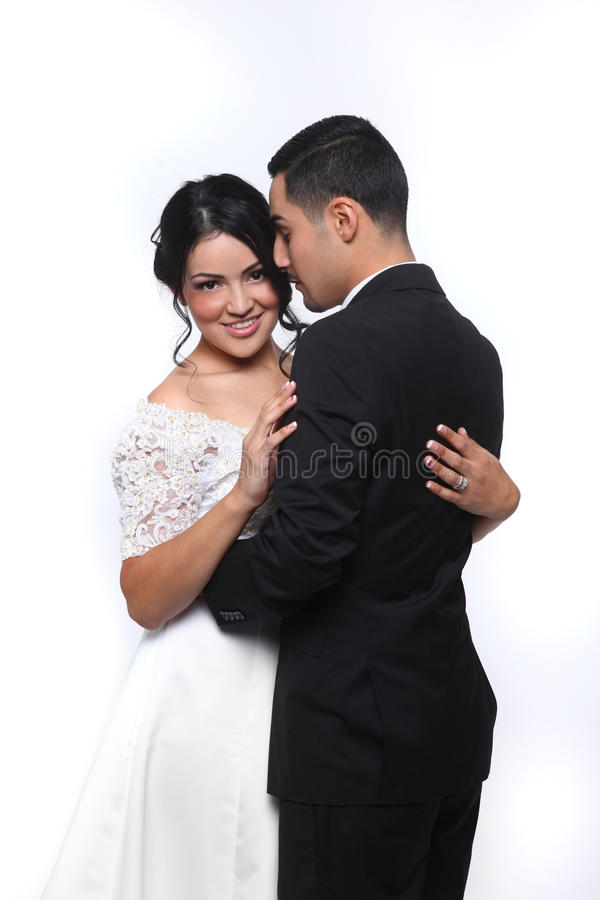 Happy Wedding Couple in Love royalty free stock image