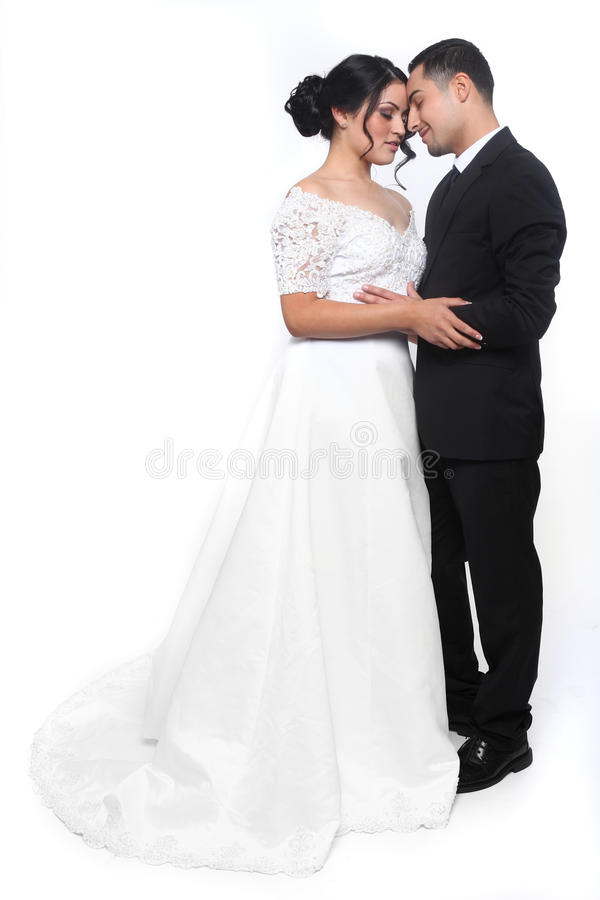 Happy Wedding Couple in Love stock images