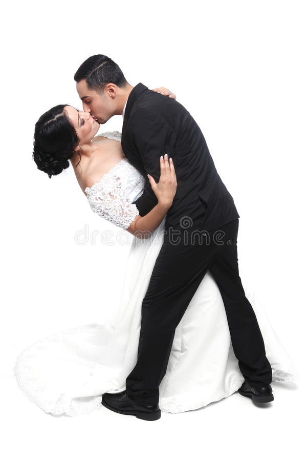 Happy Wedding Couple in Love royalty free stock photos