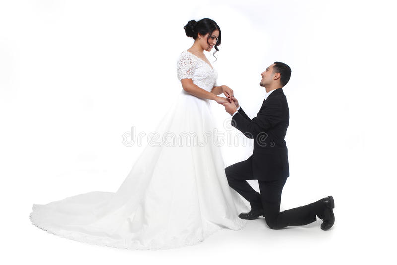 Happy Wedding Couple in Love royalty free stock photo