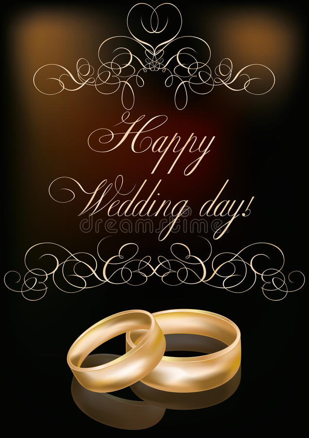 Happy Wedding Day Card Stock Vector Image Of Cover Luxury