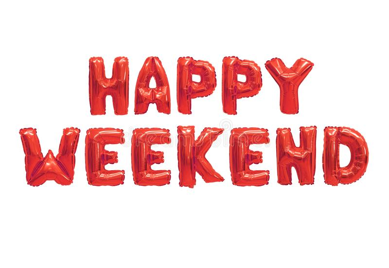 Happy weekend royalty free illustration
