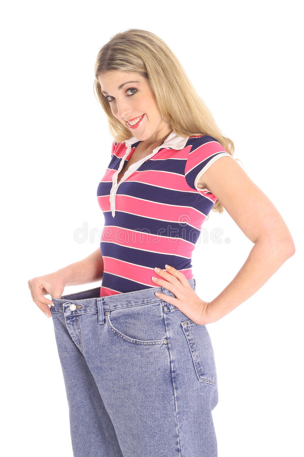 Download Happy Weight Loss Woman Royalty Free Stock Photography - Image: 4023577