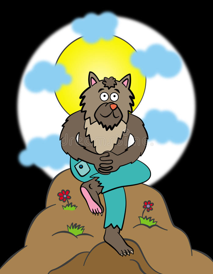 Download Happy werewolf stock illustration. Image of moon, creature - 26405904