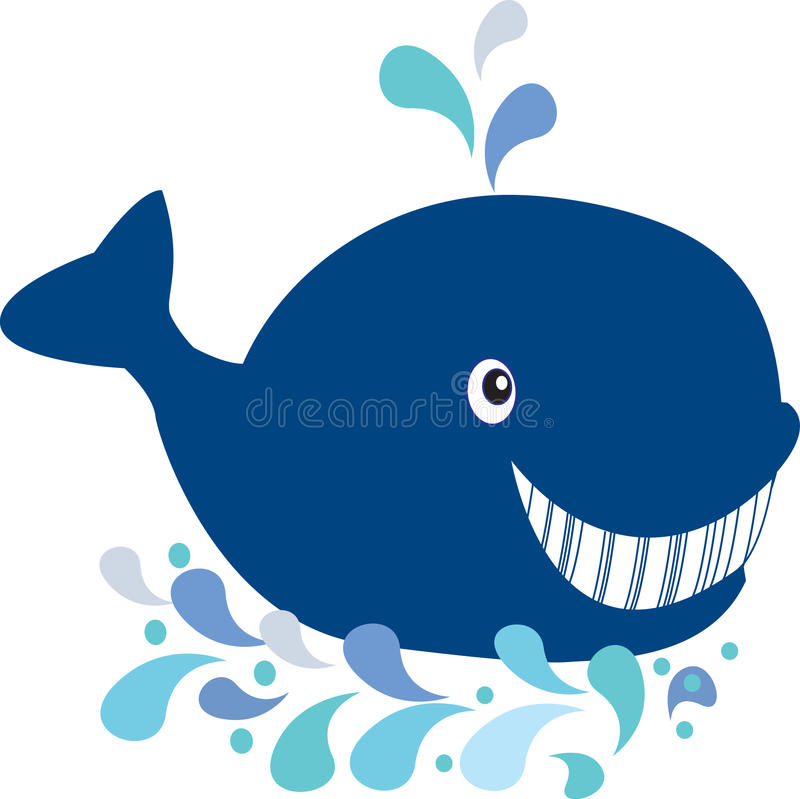 Download Happy whale stock illustration. Illustration of swim - 15969700