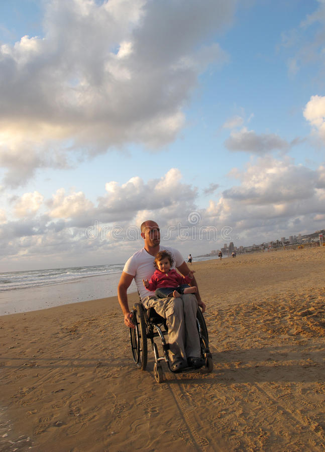 Download Happy Wheelchair Family Royalty Free Stock Image - Image: 9769876