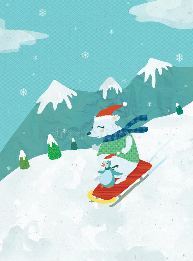 Download Happy Winter stock illustration. Image of drift, holiday - 27326817