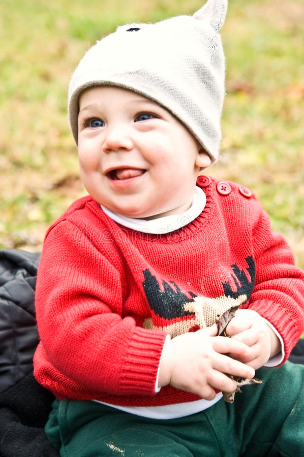 Free Happy Winter Baby Royalty Free Stock Photos - 12308948