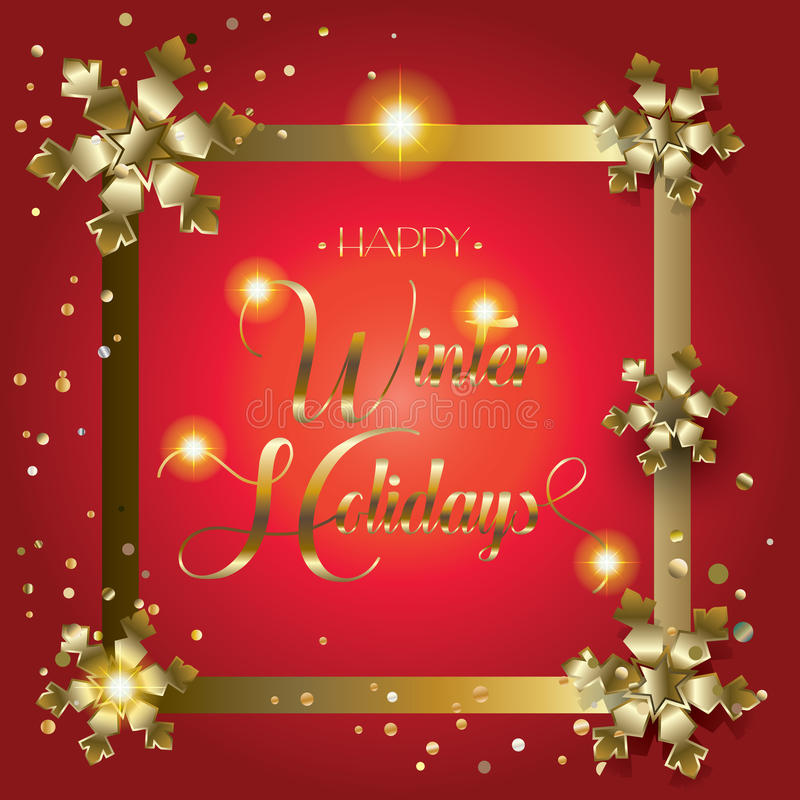Download Happy Winter Holiday stock vector. Image of flare, golden - 83704921
