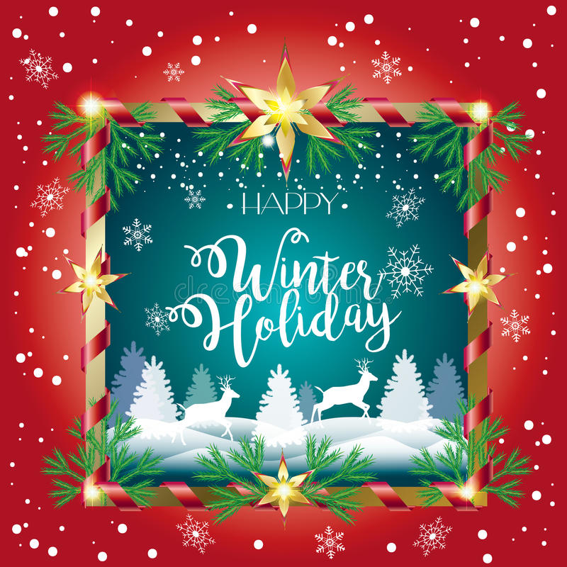 Download Happy Winter Holiday stock vector. Illustration of festive - 83718933