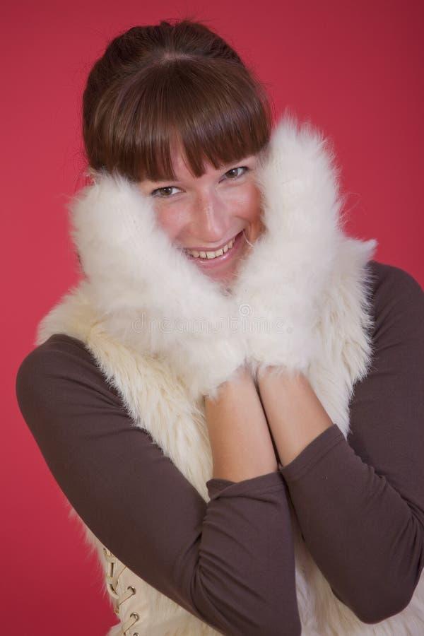 Download Happy winter woman stock image. Image of smiling, studio - 17008277