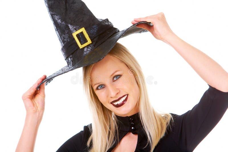 Happy witch stock photos