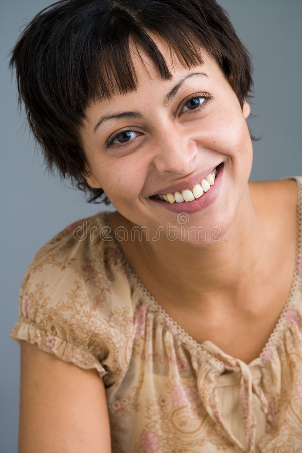 Happy woman stock image