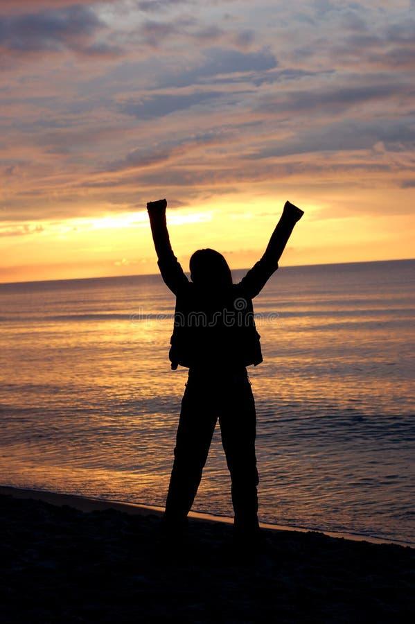 Download Happy woman #5 stock image. Image of female, orange, free - 2700643
