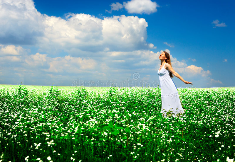 Download Happy woman stock photo. Image of health, carefree, beauty - 5962072