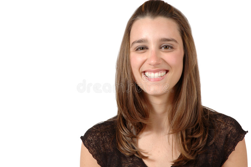 Happy Woman. Beautiful woman smiles. Happy, smiling woman royalty free stock photography