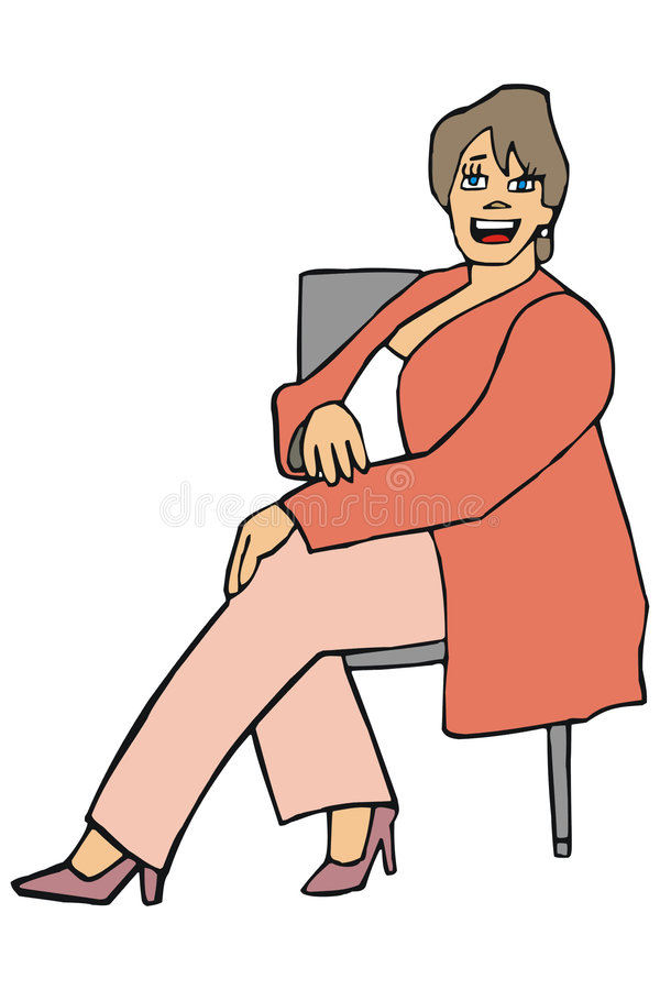 Happy woman vector illustration