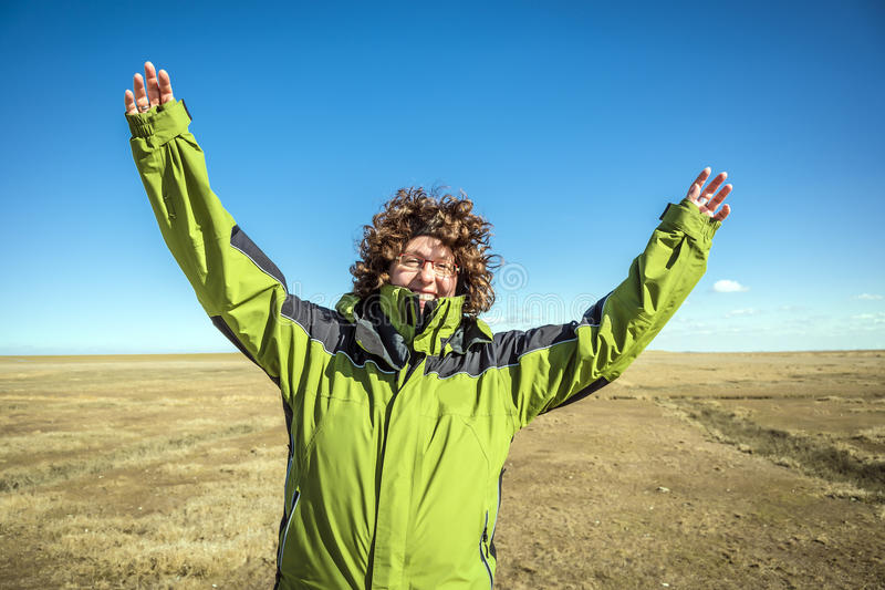Download Happy Woman With Arms Raised Stock Photo - Image: 30476052