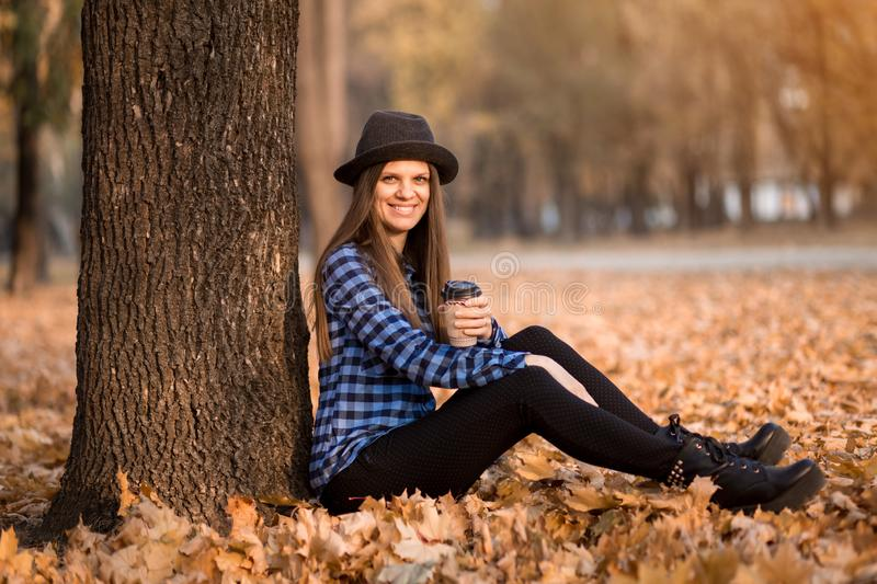 Fall Woman Happy And Bliss Stock Photo Image Of Ecstatic 26260886
