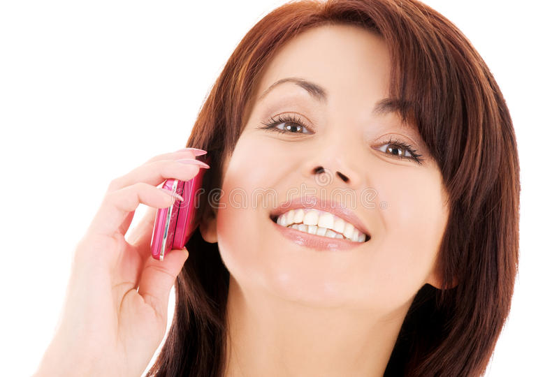 Download Happy Woman With Cell Phone Stock Photo - Image: 9810926