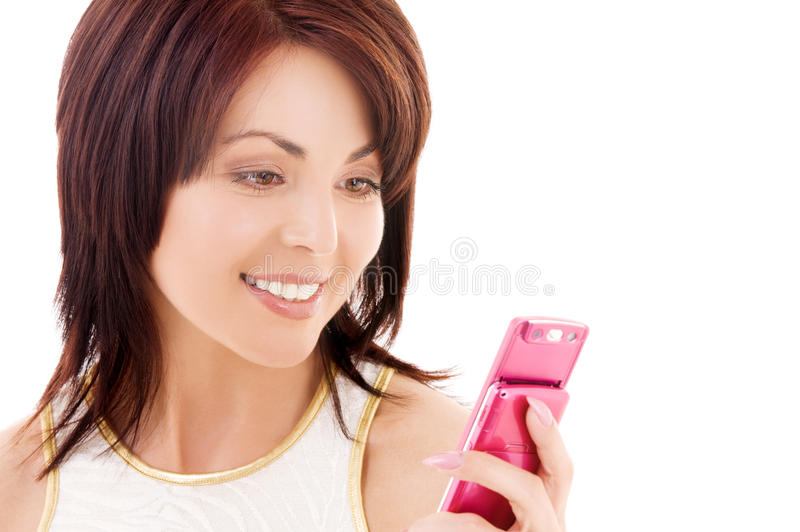 Download Happy Woman With Cell Phone Stock Image - Image: 41477021
