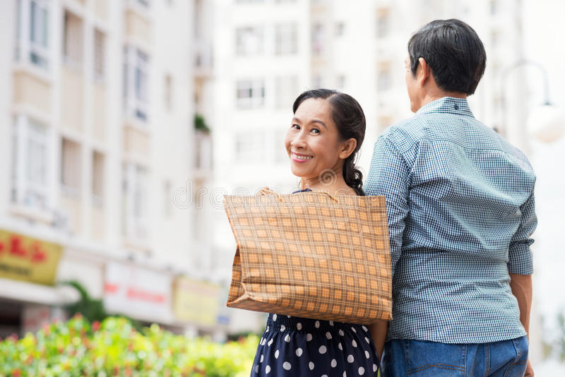 Download Happy woman stock image. Image of carry, outside, paperbags - 34646771