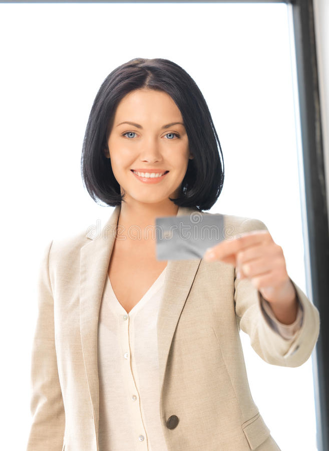 Download Happy Woman With Credit Card Stock Image - Image: 24624291