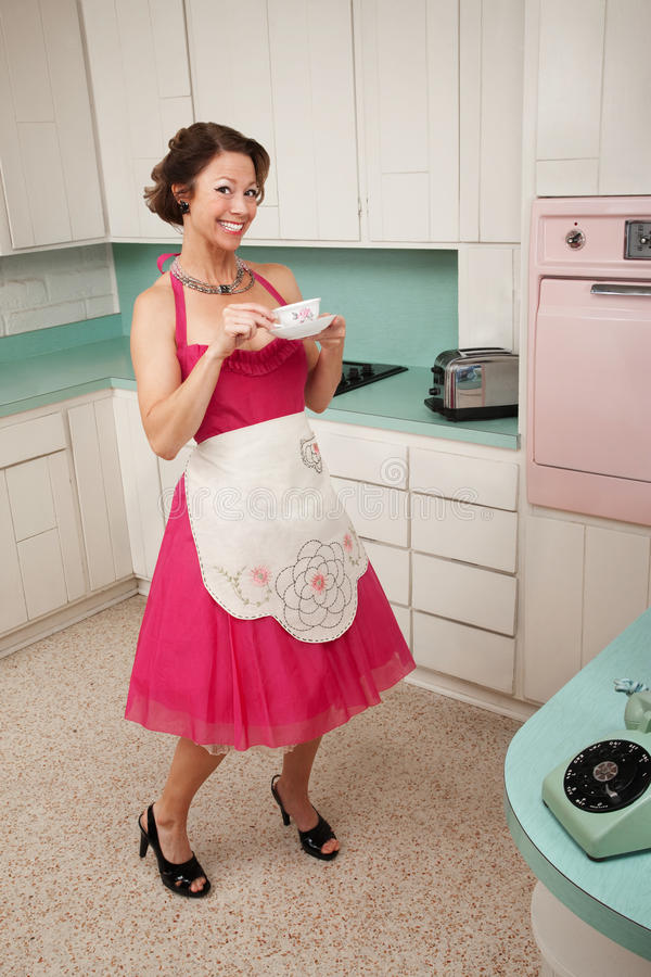 Download Happy Woman Drinks Coffee Royalty Free Stock Photo - Image: 19633675