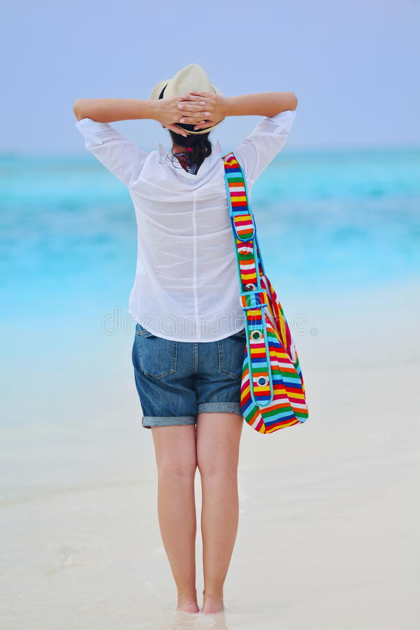 Download Happy Woman Enjoy Summer Vacation Stock Photo - Image: 38562648