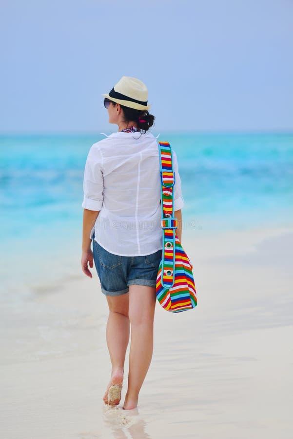 Download Happy Woman Enjoy Summer Vacation Stock Image - Image of maldives, ocean: 38563027
