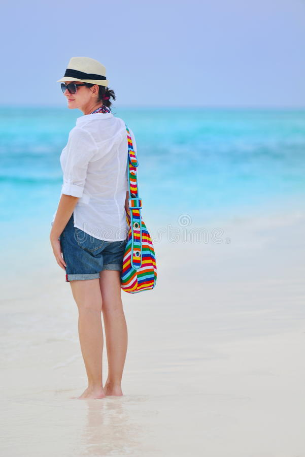 Download Happy Woman Enjoy Summer Vacation Stock Image - Image of adult, happy: 38563109