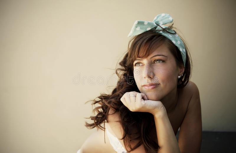 Happy woman enjoying summer royalty free stock images