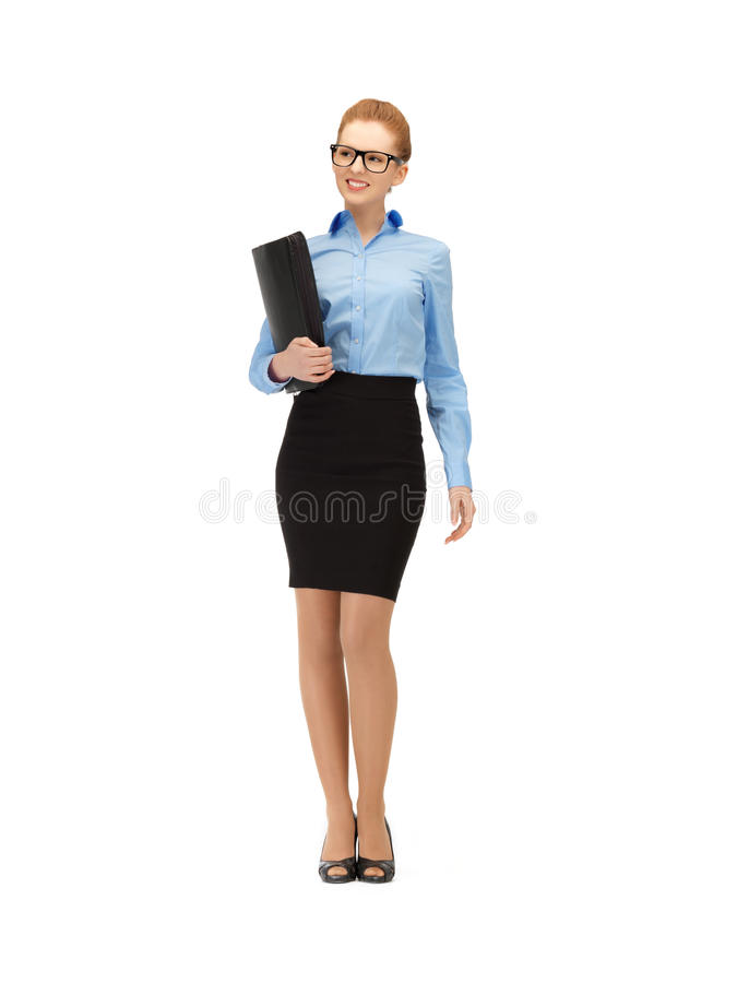 Download Happy woman with folder stock image. Image of cute, office - 39514451