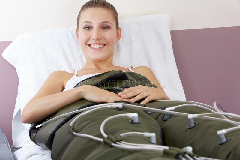 Download Happy Woman Getting Pressure Wave Stock Photo - Image: 25399684