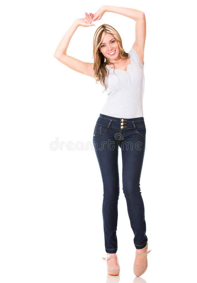 Download Happy woman having fun stock photo. Image of person, background - 27664384